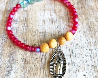 Lady of Guadalupe Beaded Bracelet
