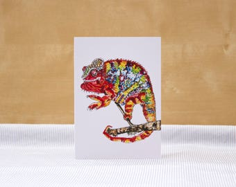Pride Chameleon: Illustrated Greetings Card