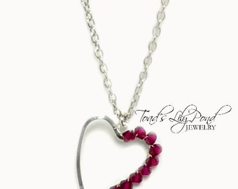 Valentine's Heart Necklace | Red Heart | 90s | Small Heart Necklace | Swarovski Crystal Necklace Heart | Heart Jewelry