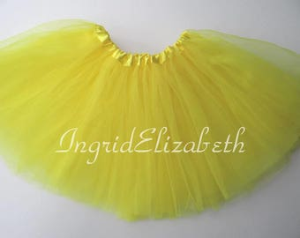 Yellow Tutu 4-Layer, Tutu, Tutu for Girls, Yellow Tutu, Yellow Girls Tutu, Yellow Ballet Tutu, Tutu Skirt, Toddler Tutu, Tutu Costume