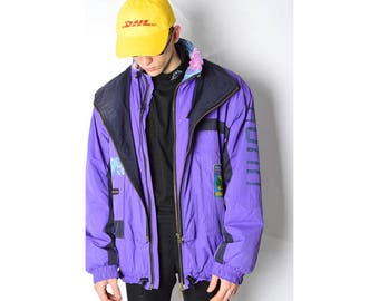 Vintage 80s Purple SKI Jacket Size L/XL 6_121217_M