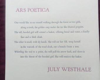 Ars Poetica Broadside