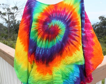 Tie Dye Poncho Top | Plus Size XXL