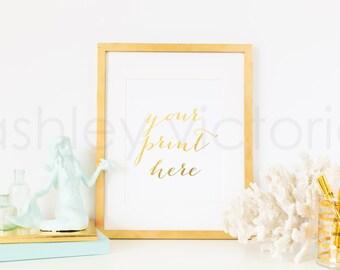 SET of 2 // Gold Frame Styled Images // Digital Download