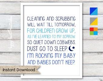 Babies Don't Keep - 3 Colors Included - Nursery Printable 8x10