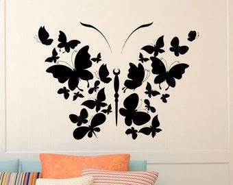 Butterfly Wall Decal Vinyl Sticker Interior Design Art Nursery Girls Bedroom Living Room