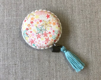 Handmade Macaron Measuring tape made with Liberty of London fabric #32