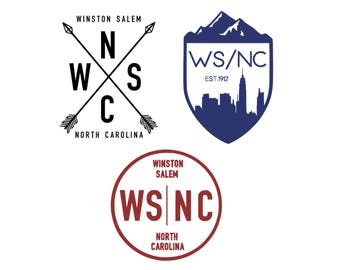 Winston Salem, North Carolina Vinyl Decal, Winston Salem Decal, Winston Salem, NC, North Carolina, Yeti Decal, Car Decal, Car Sticker,