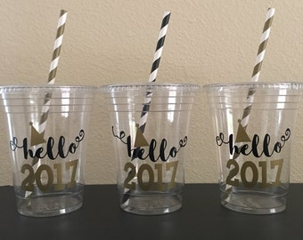 New Years Party Cups, New Years Birthday Party, 2018 Party