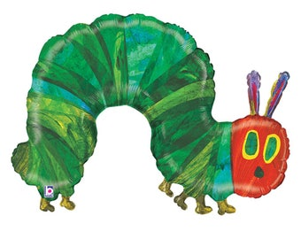 "The Very Hungry Caterpillar Balloon 43"" Birthday Balloon Party Decorations Centerpiece Photo Prop Baby Shower Supplies"