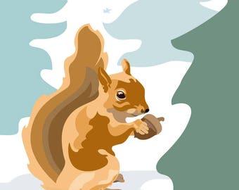 Mr. Squirrel's Dinner