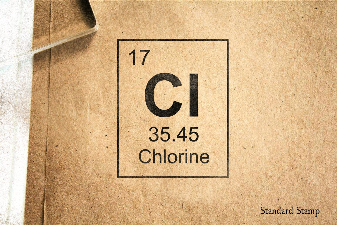 Chlorine periodic table rubber stamp 2 x 2 inches zoom urtaz Images