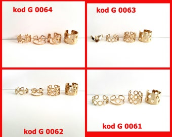 Gold Stacking Rings, Gold Stackable Rings, Stacking Rings Set, Golg mid Rings, Midi Rings,  knuckle Rings, Gold Ring Set, Gold Rings Set