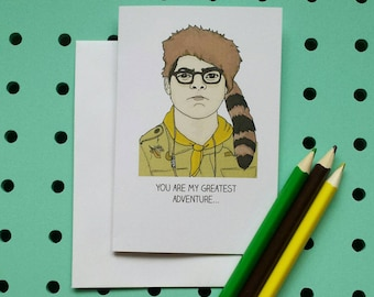 Moonrise Kingdom card - You are my greatest adventure - Wes Anderson