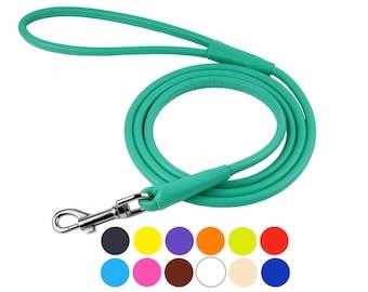 Dog Leash, Dog Lead, Leather Dog Leash, Rolled Leather Dog Leash, Pet Leash, Rope Dog Leash