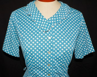1950s Nylon Dress Sz 8 Vintage Retro