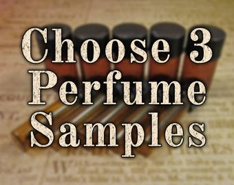 Perfume Oil Samples: Choose Three (3) 1mL or 2mL Samples, Perfume Oil, Cologne Oils, Apothecary Fragrance, Ships Out in 5-8 Days