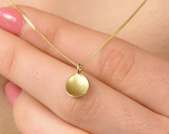 Flower Petal Pendant, Ethical 18k Yellow Gold, Petal Necklace