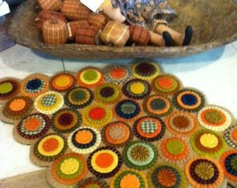 Penny Rug Kit Primitive Wool Applique Folk Art