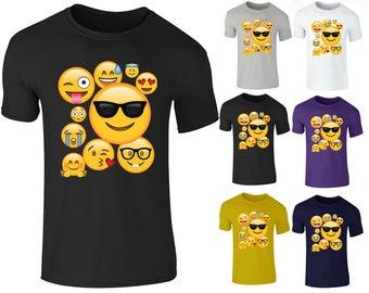 Men's Emoji Ideograms Smileys Emotions Mobile Symbols T Shirt