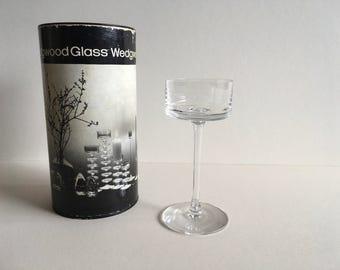 Vintage Wedgwood Glass Candlestick.