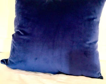 Blue velvet throw pillows velvet pillows  Royal blue pillows