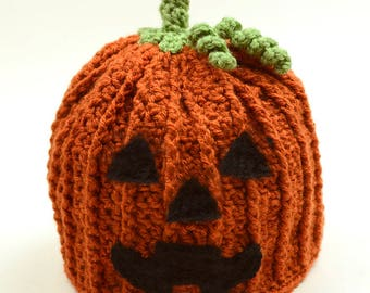 Jack O' Lantern Hat - 5 Sizes - PDF Crochet Pattern - Instant Download