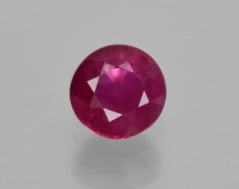 AAA Round Genuine Faceted Ruby ( 2mm-5mm). 811-211