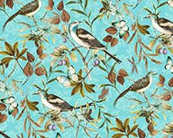 Forest Walk - Blue Birds from Wilmington Prints