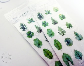 Stickers Tropical Leaves Green Nature