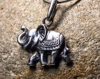 Lucky Elephant Silver pendant Indian elephant Animal totem Elephant Jewelry Elephant necklace charm Silver Elephant symbol Gift with meaning