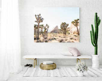 Joshua Tree Large Wall Decor, Cactus Print, Desert Home Decor, Modern Wall  Decor