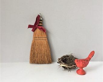 Vintage Whisk Broom, Straw Hand Broom, Farmhouse Kitchen, Flea Market Style, Rustic Country, Primitive Decor