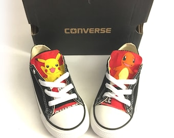 Pokemon Shoes, Pokemon Converse Sneakers, Pikachu, Charmander, Bulbasaur, Eevee, Meowth, Squirtle