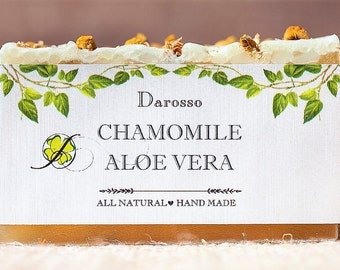 Chamomile and Aloe Vera Soap, All Natural Soap, Handmade Soap, Detox Soap, Vegan Soap, Gift for him, Gift for her, Luxury Soap, Organic Soap