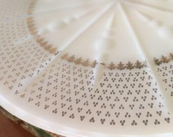pedestal milk glass cake plate