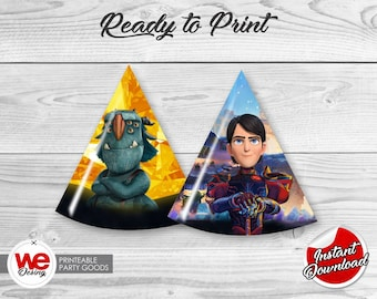 Trollhunter Party Hats, Printable Trollhunters Party Decoration, DIY,Trollhunter Birthday,Trollhunter Party,