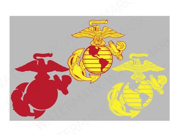 Marine Cutout Files for Cricut SVG and Silhouette Studio File Cut Out Stencil Decal Logo SVGS Military United States USA Usmc Corps Marines