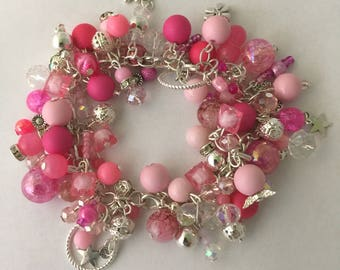 All of the pink cluster bracelet