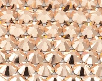 Golden Rose Swarovski Crystal Flat Back SS10 Non hotfix