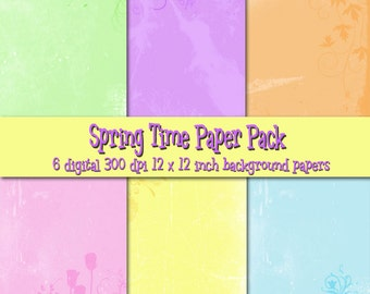 Springtime Digital Background Set
