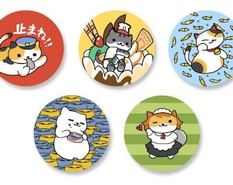 Neko Atsume Button Set