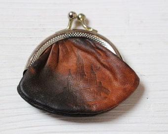 Vintage Lourdes leather coin purse