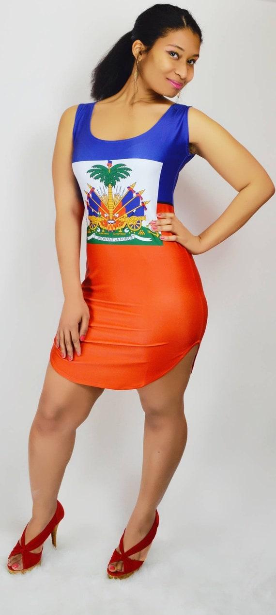 Low Cut Haitian Bodycon Club Dress