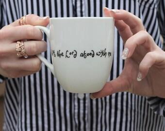 cute coffee mug, hipster mug, white mug, christian mug, bible verse mug, mug, unique mug, but the lord stood with me, scripture mug, mugs