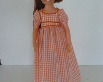 Ideal Crissy Orange Check Gown