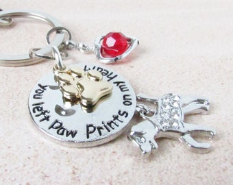 Paw Keychain, Pet Loss Keychain, Pet Keychain, Pet Loss Gift, Dog Loss Keychain, Car Accessories, Dog Lover Gift, Gift for Pet Loss