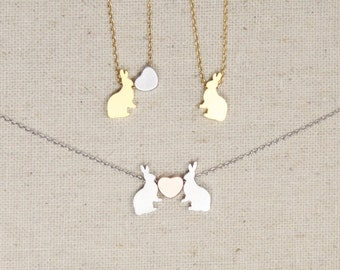 Bunny Rabbit Necklace | Easter Bunny | Animal Lover | Gift for Her | Daughter | Best Friends | Mommy and Me | Pet Necklace| Mothers Day Gift
