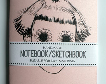 A6 Handcrafted Notebook Sketchbook- 'Blooming'