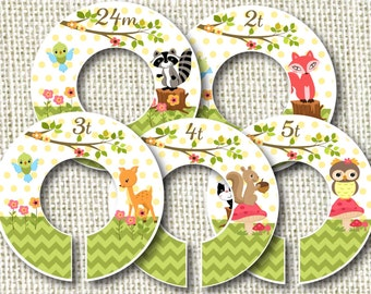 Baby Closet Dividers - Woodland Babies